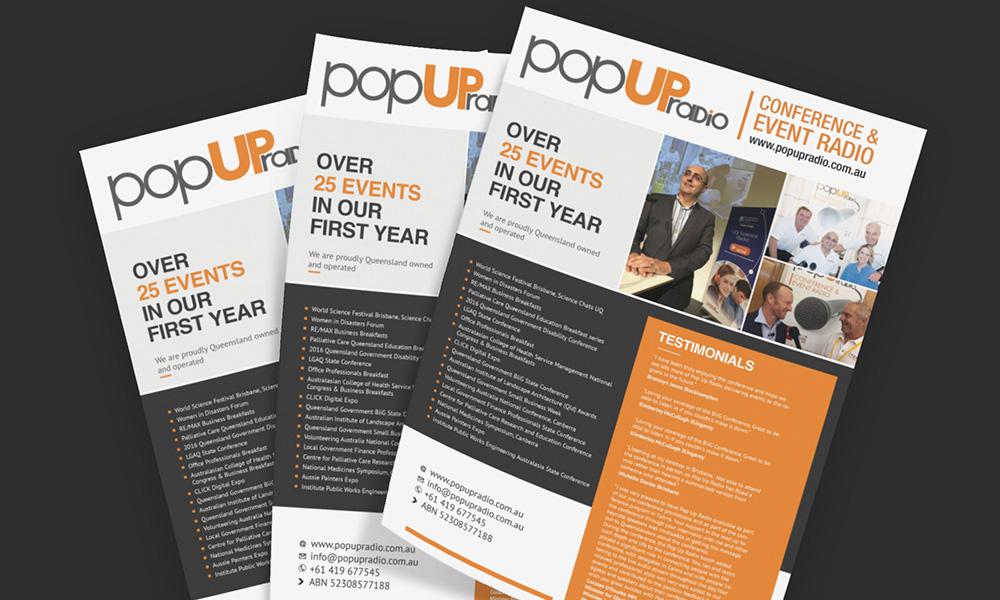 A4 Flyer - Pop UP Radio
