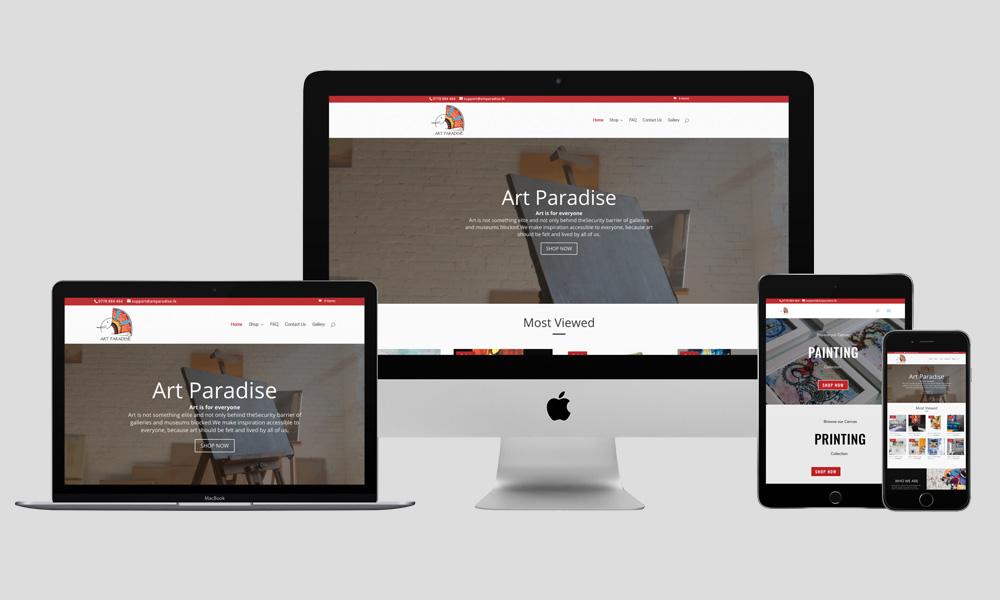 Responsive Web Design - Art Paradise