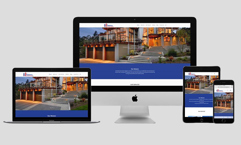Responsive Web Design - Oriental Concrete