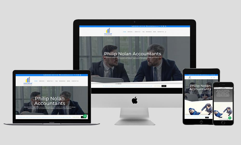 Responsive Web Design - Philip Nolan Accountants
