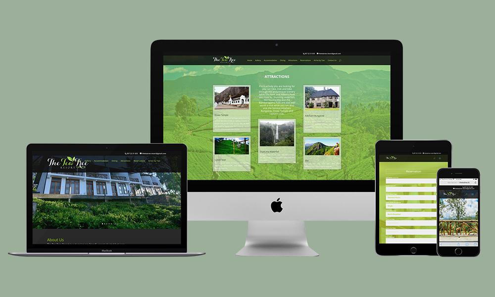 Responsive Web Design - The Tea Tree Resort