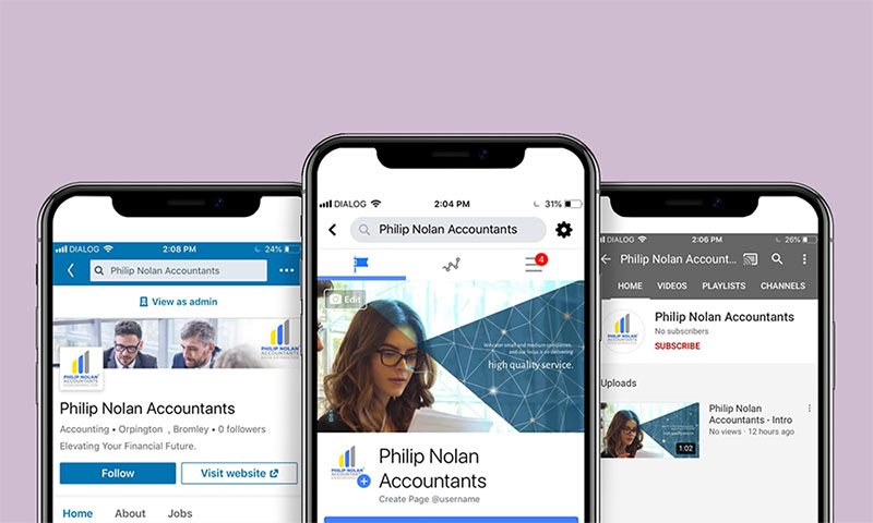 Social Media - Philip Nolan Accountants