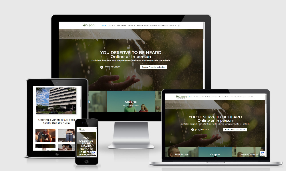 Responsive Web Design - Mclean Counseling Center