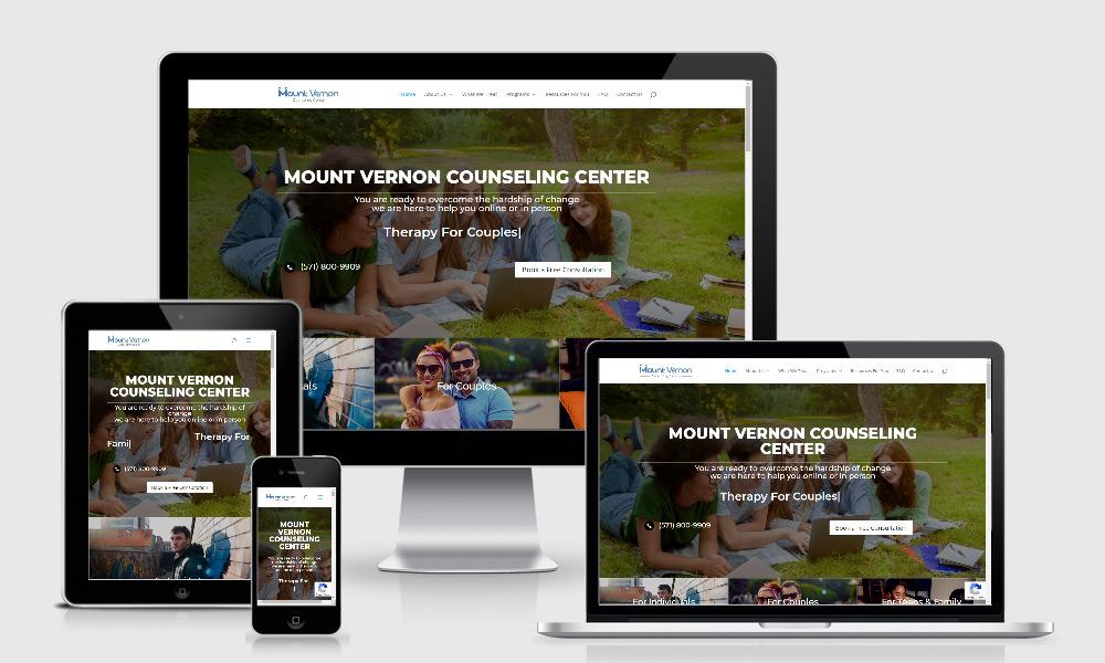 Responsive Web Design - Mount Vernon Counseling Center